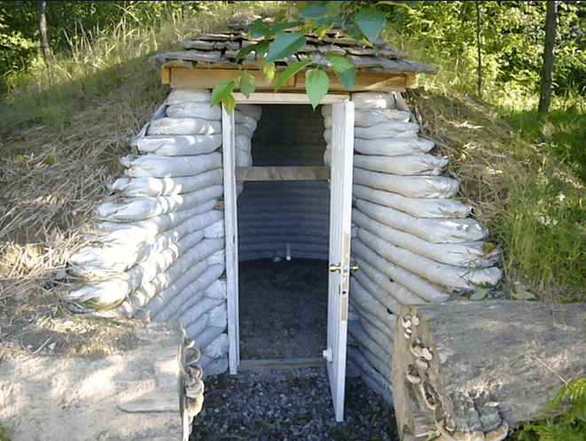 Earthbag cellar